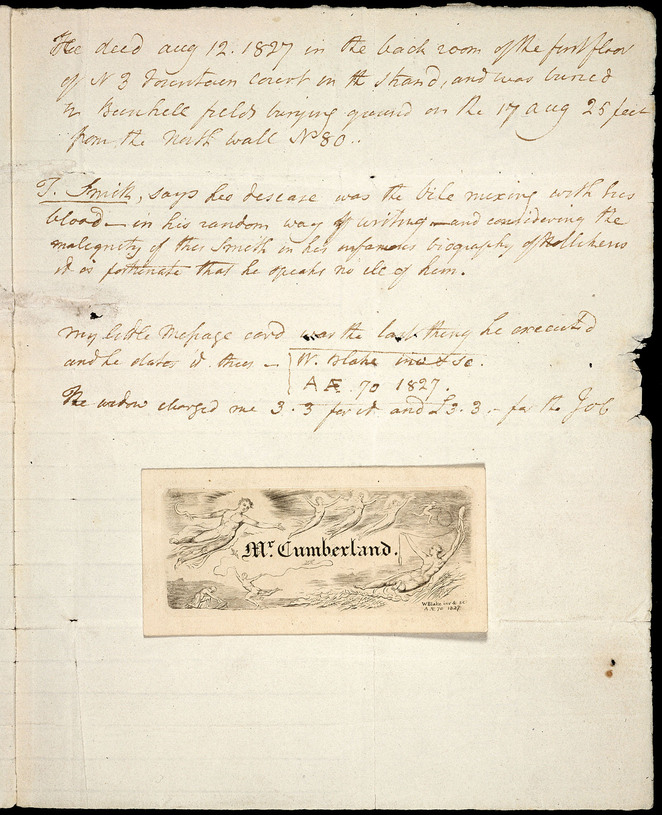 Letter to George Cumberland, 12 April 1827, object 4