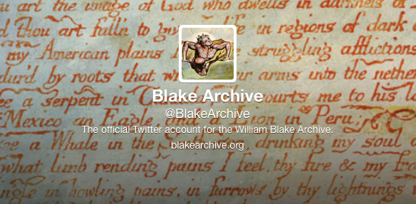 Blake Archive Twitter Profile