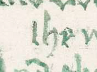 Snippet of manuscript.