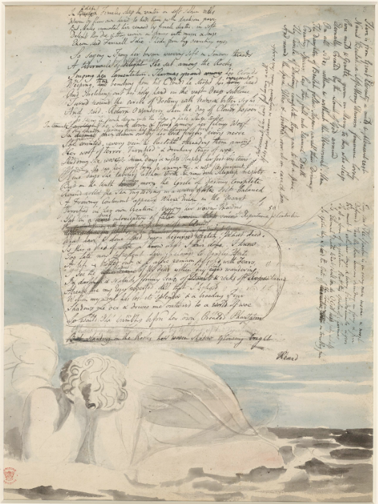 Manuscript page of William Blake's Vala, or the Four Zoas.