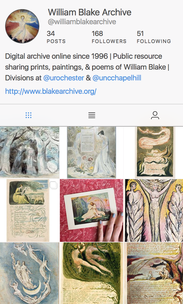 Instagram as Archive: Blake and Digital Art Culture