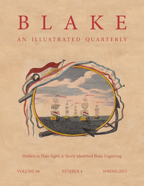 Cover of Blake volume 48, number 4, spring 2015