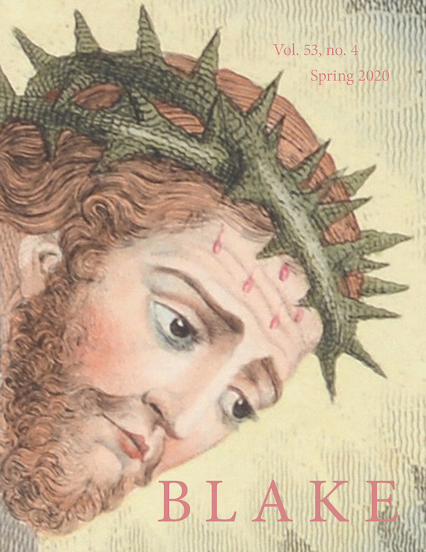 Cover of Blake volume 53, number 4, spring 2020